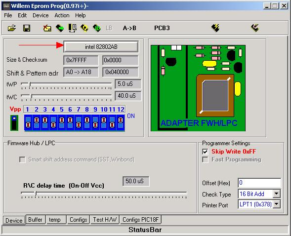 Intel N82802AB blank firmware hub